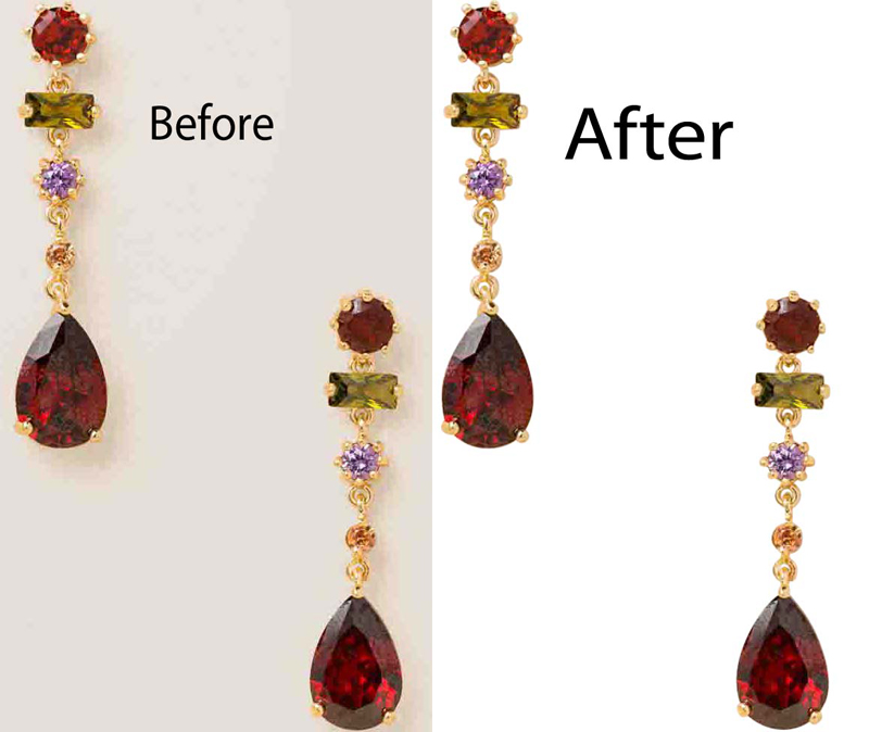 jewelry photo editing clipping path service